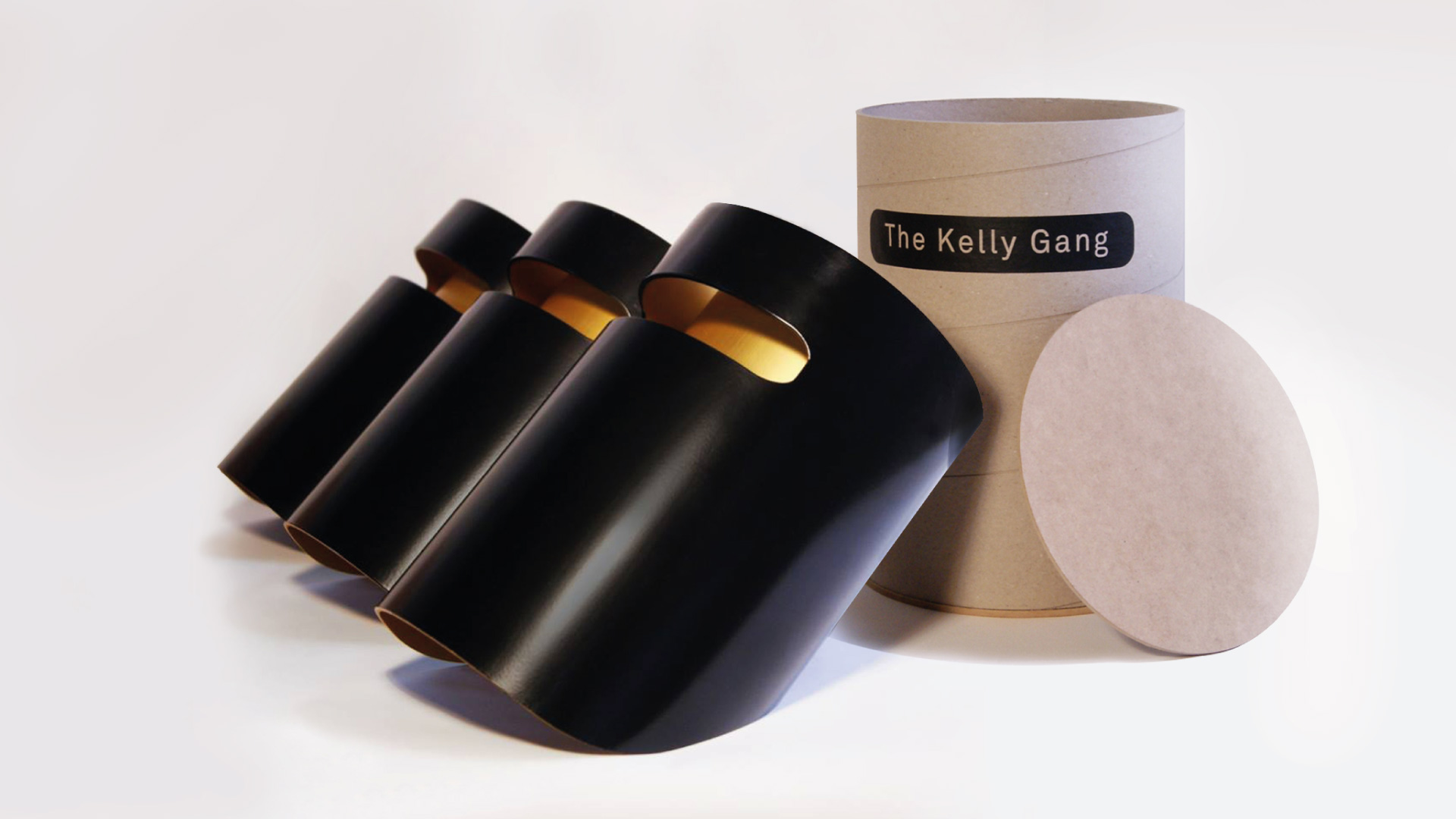 Kelly Gang pendant lights with custom packaging