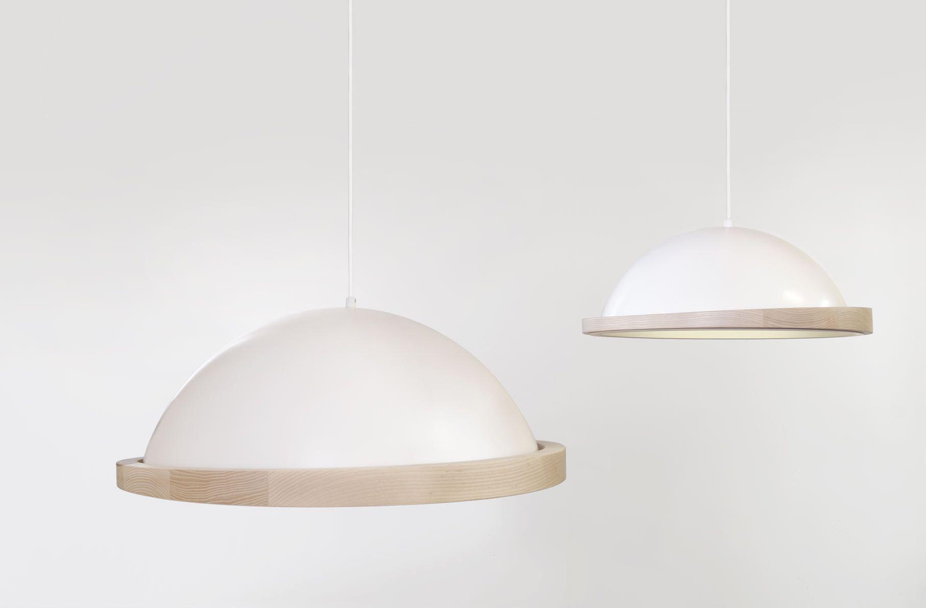 obelia 660mm pendant lights with ash rims