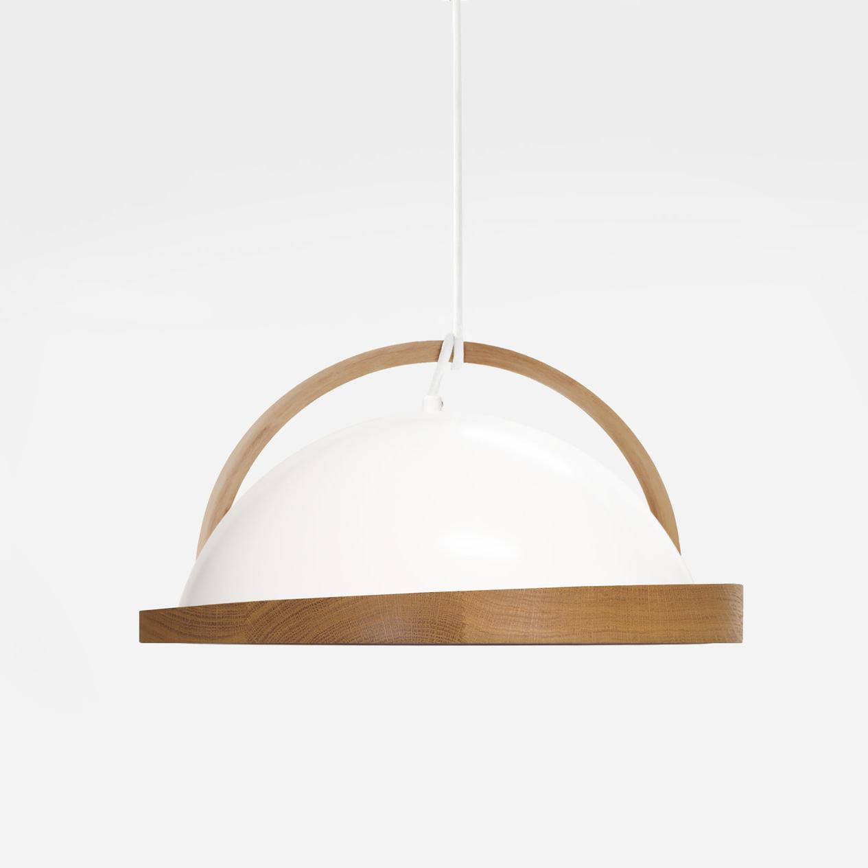 obelia pendant light oak rim with beech bent arc