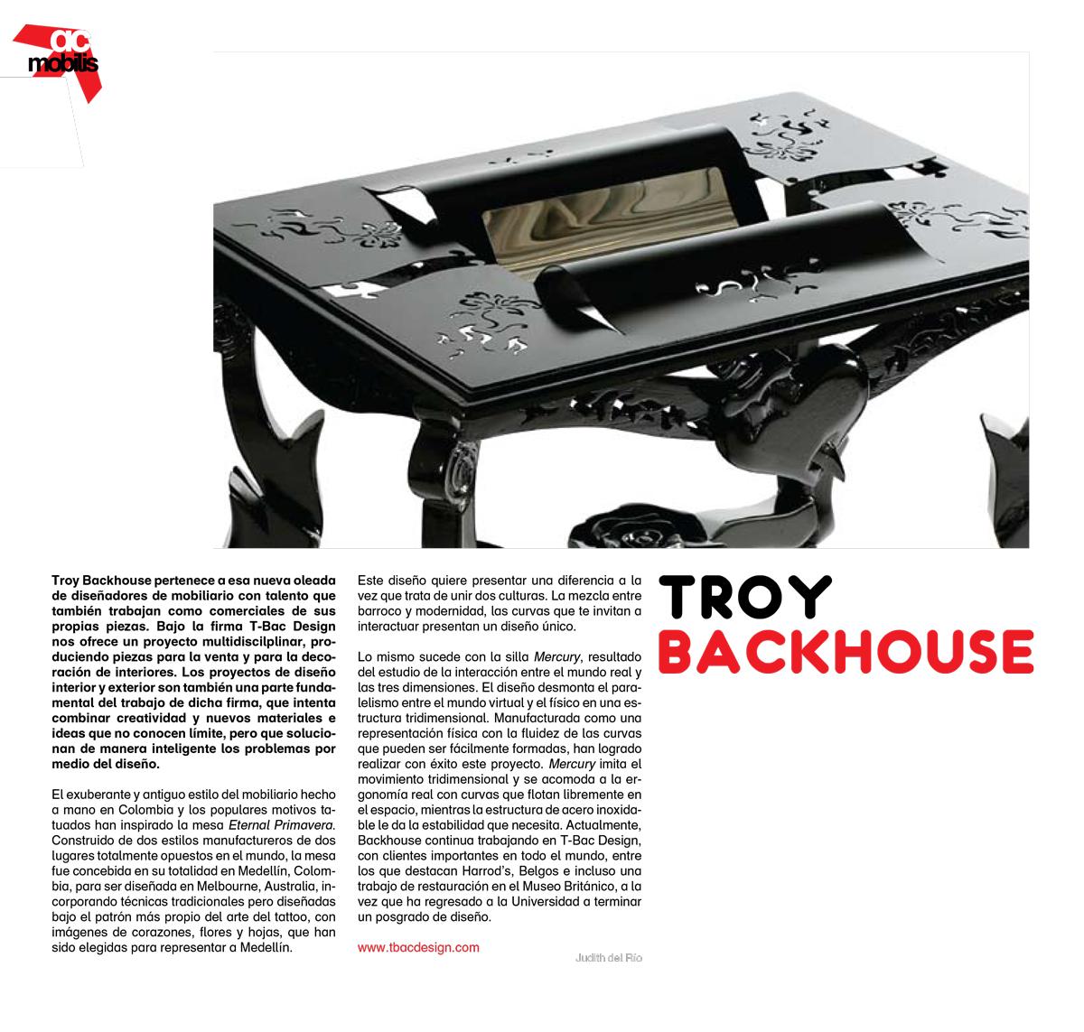 actitudes Spanish design magazine Troy Backhouse publication