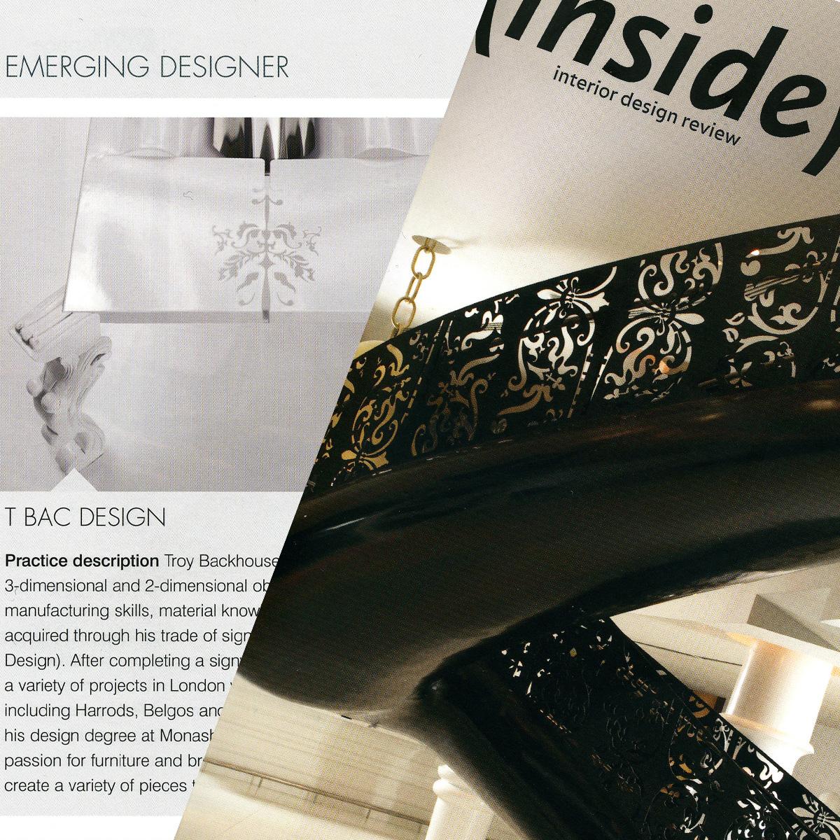 inside magazine Troy Backhouse publication