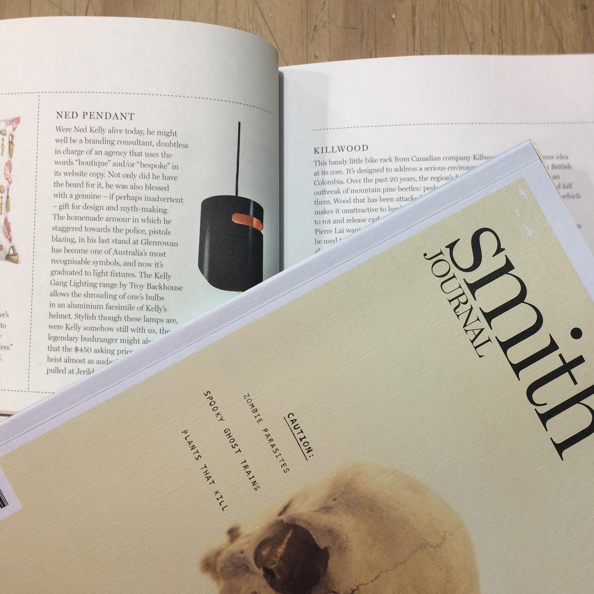 Smith Journal Troy Backhouse publication of Ned Pendant light