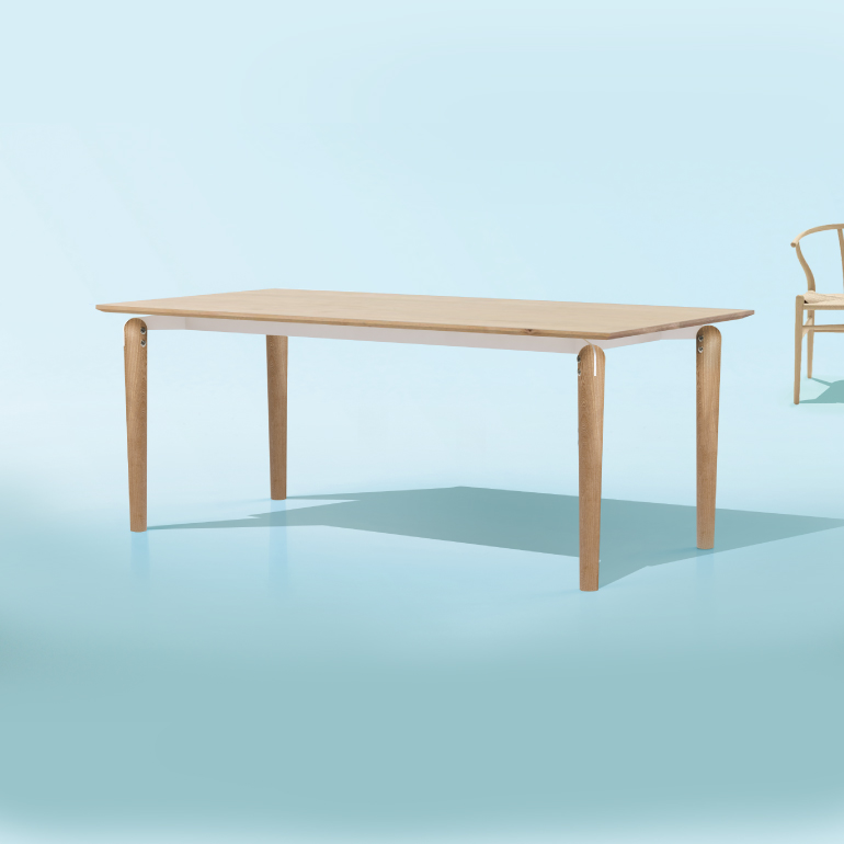 Ulna solid timber dining table