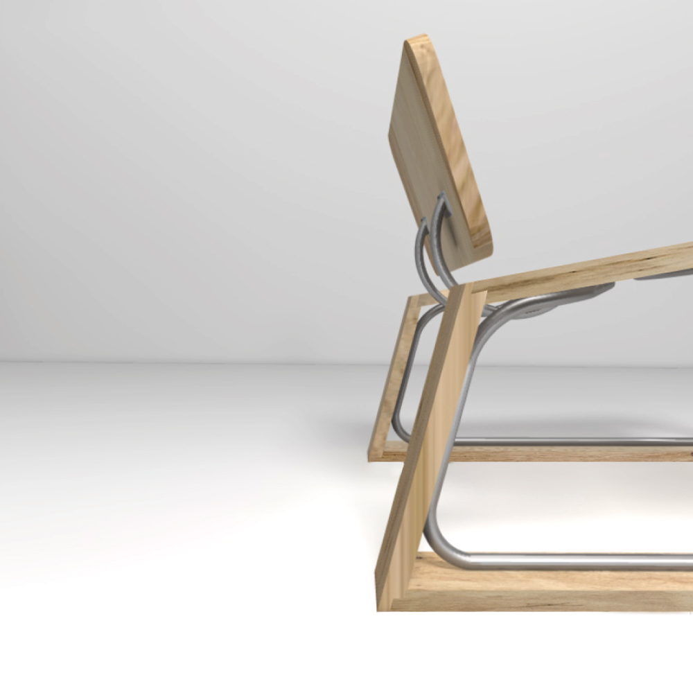 solid timber concept chair