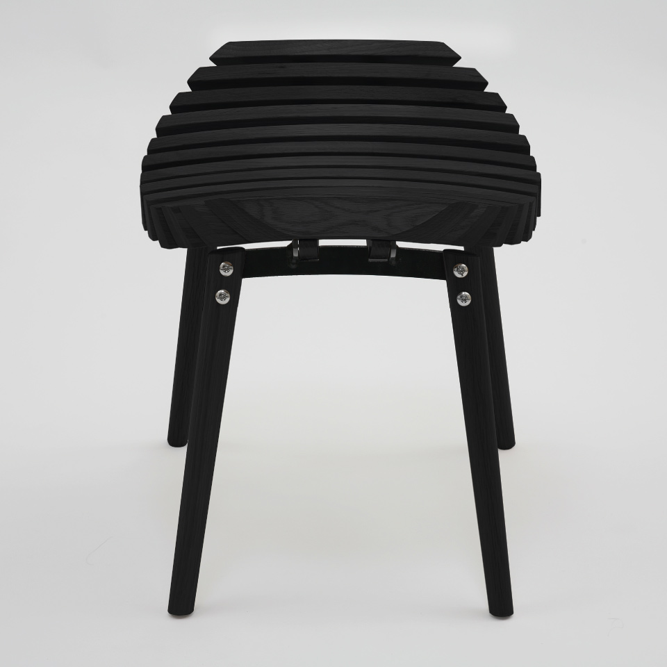 Ane stool stained black